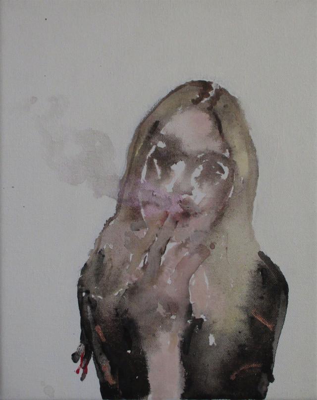 Smoke, schilderij door Lilian Eliens